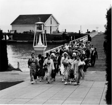 Japanese picture brides. Angel Island immigration station. Source: www.angelisland.org
