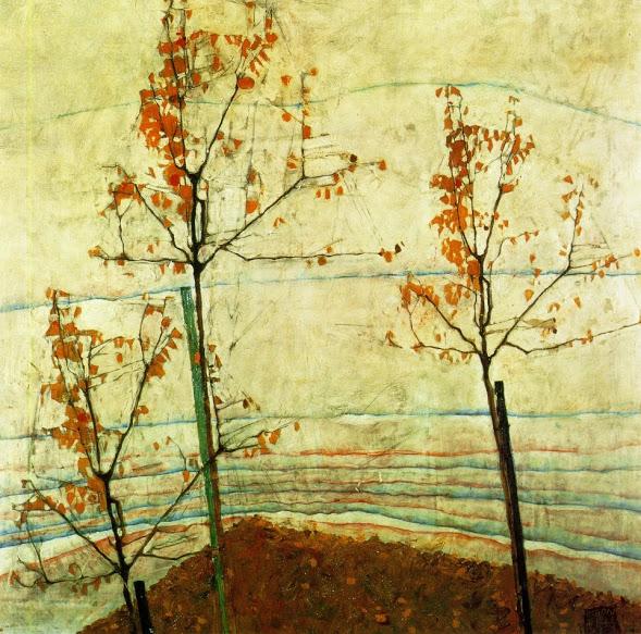 "Egon Schiele. ""Autumn Trees."" 1911."
