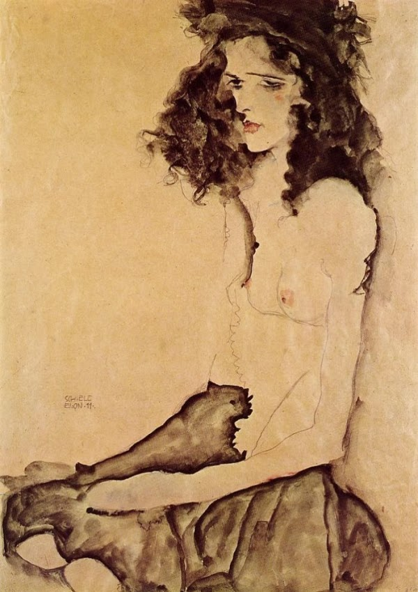 "Egon Schiele. ""Girl in black"""