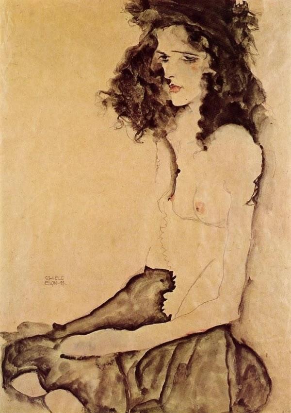 "Egon Schiele. ""Girl in black"""