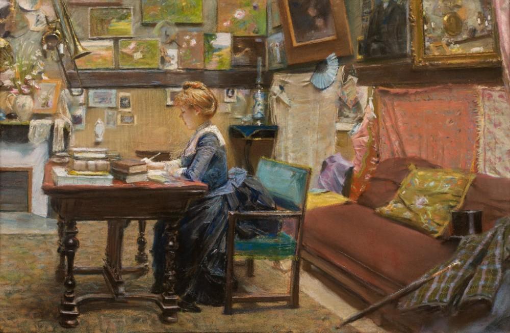 Charles Lucien Leandre 'L'atelier de l'artiste'