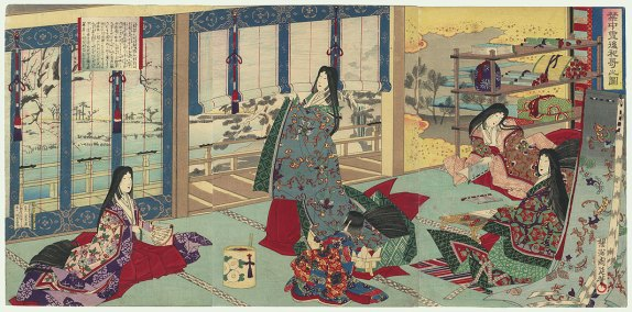 Chikanobu. Lady Sei Shonagon in the Court.