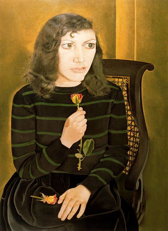 Lucian Freud, Girl with Roses, 1947.