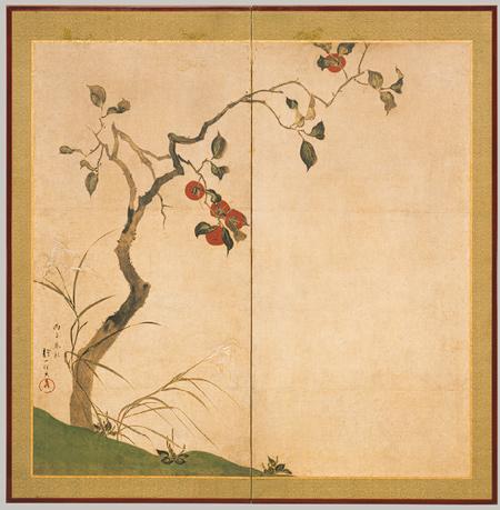 "Hoitsu Sakai. ""Persimmon tree""."