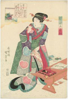 Utagawa Kunisada. Murasaki. Edo period.