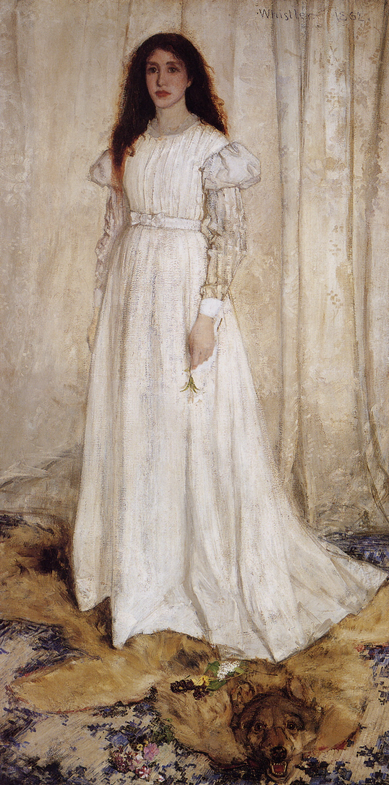 James Whistler Symphony_in_White no 1 (The White Girl) 1862