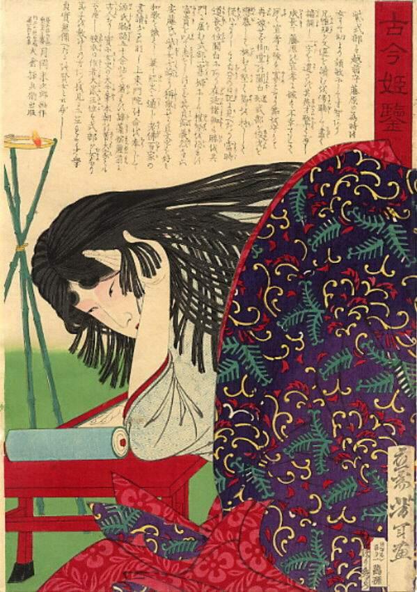 Yoshitoshi. Murasaki. 1875