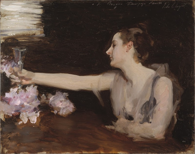 "John Singer Sargent. ""Madame Gautreau Drinking a Toast"". 1882-83."