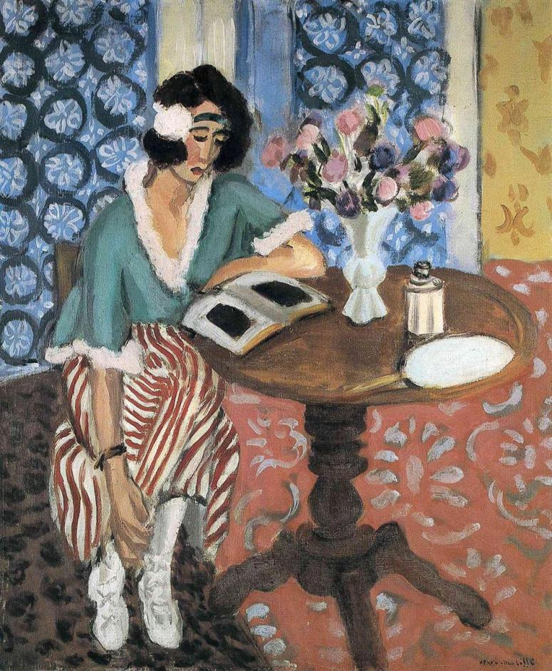 Henri Matisse. Liseuse au guéridon (1921).