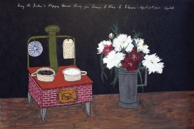 Elizabeth Bishop. Red Stove and Flowers.