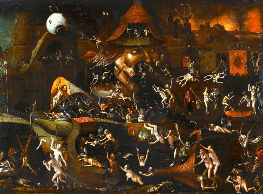 "Follower of Hieronymus Bosch.""The Harrowing of Hell""."