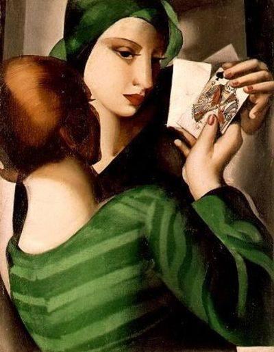 "Tamara de Lempicka. ""Card Palyers"". 1926"