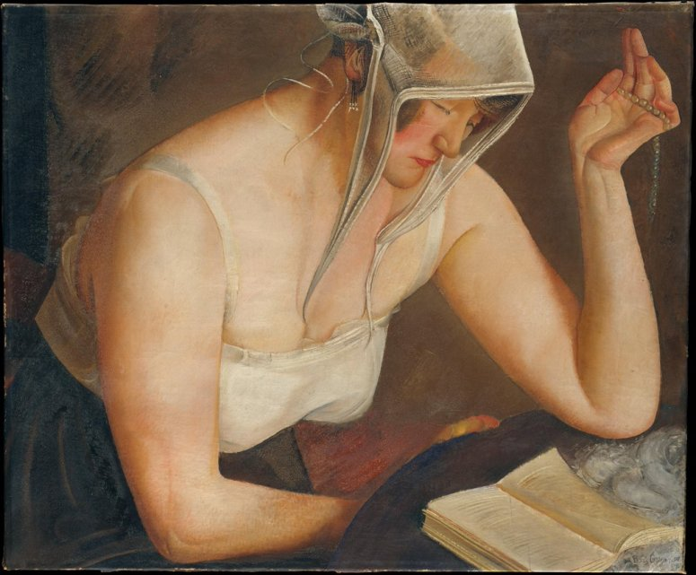 "Boris Grigoriev. ""Woman Reading"", 1922."
