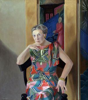 Elizabeth Bowen, portrait by Andre Durand, 1969.