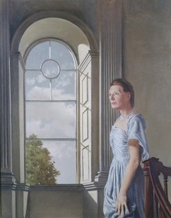 Portrait of Elizabeth Bowen at Bowenscourt c.1955, oil on canvas, by Patrick Hennessy