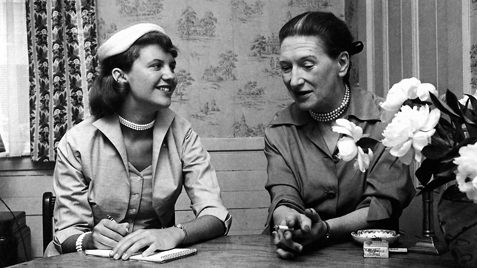 Sylvia Plath interviewing Elizabeth Bowen for Mademoiselle magazine in 1953