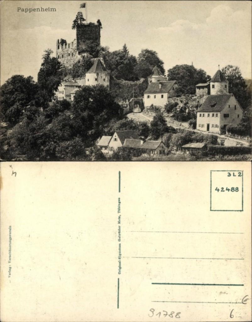 Old postacard. Pappenheim.
