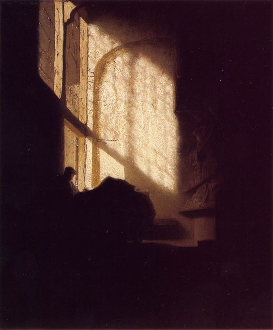 """Rembrandt. """"A Man in a Room."""" 1630."""