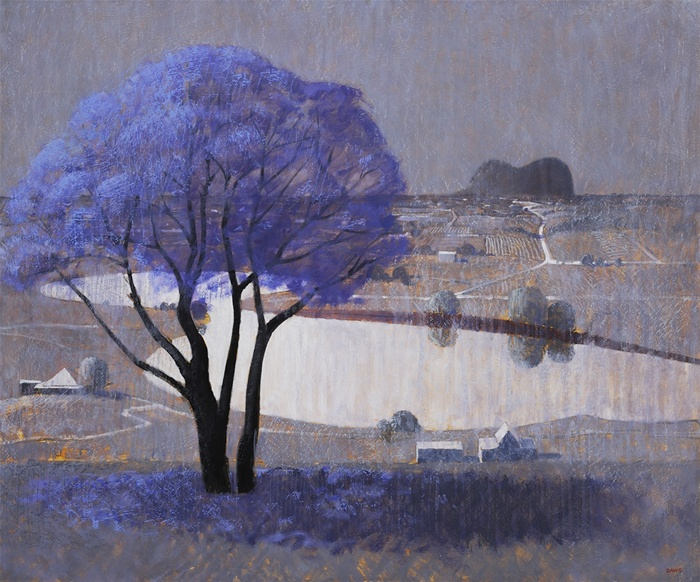 Lawrence Daws, Jacaranda, Glasshouse Mountains c. 1980