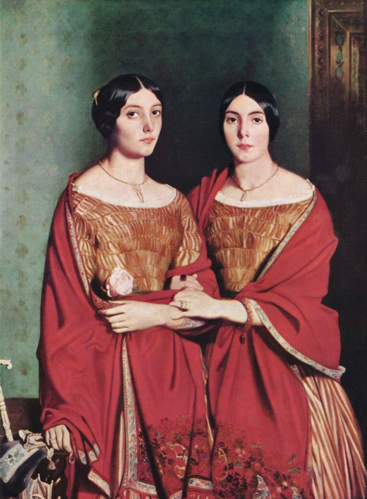 "Théodore Chassériau. ""The Two Sisters"".1843."