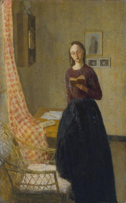 Gwen John (Welsh, 1876 - 1939): A Lady Reading (1909-1911)