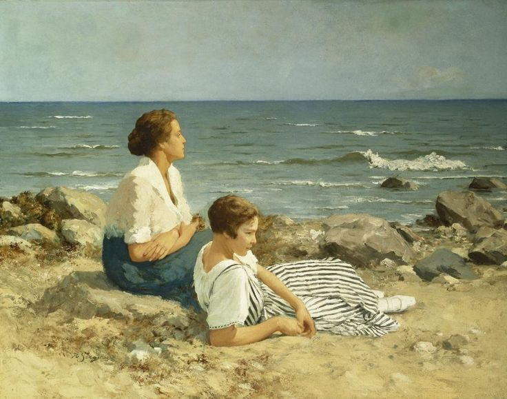 "Hermann Seeger. ""On the Beach""."