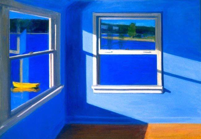 "Kurt Solmssen, ""Blue Room on the Bay""."