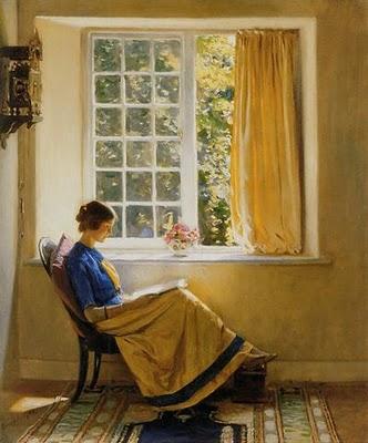 """""""Morning Sun"""" (1913) by Harold Knight."""