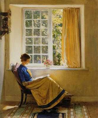 """Morning Sun"" (1913) by Harold Knight."