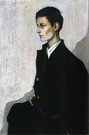 Romaine Brooks. Peter, a Young English Girl (The Artist Hannah Gluckstein aka Gluck), 1923-1924.