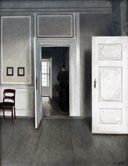 "Vilhelm Hammershoi, ""Interior Strandgade 30"", 1901"
