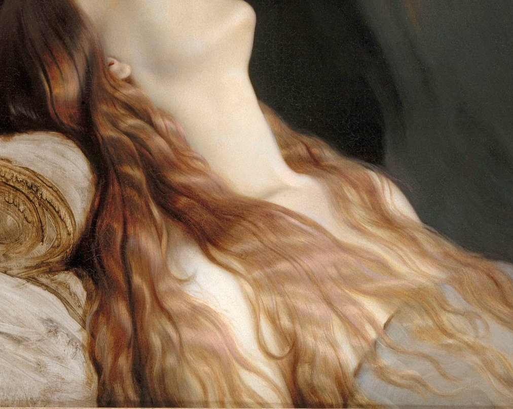 Paul Delaroche - Louise Vernet on Her Deathbed [detail]