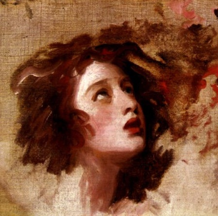 George Romney. LadyHamilton as Miranda