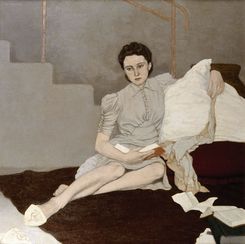 Louis Le Brocquy. Girl in Grey, 1939.