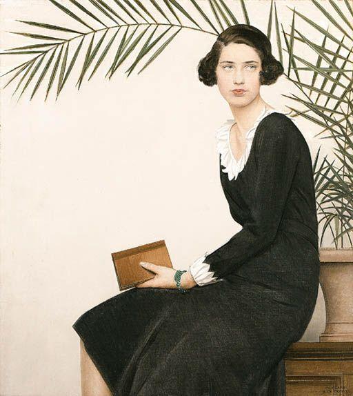Bernard Boutet de Monvel. Portrait of Virginia Shaw.1930
