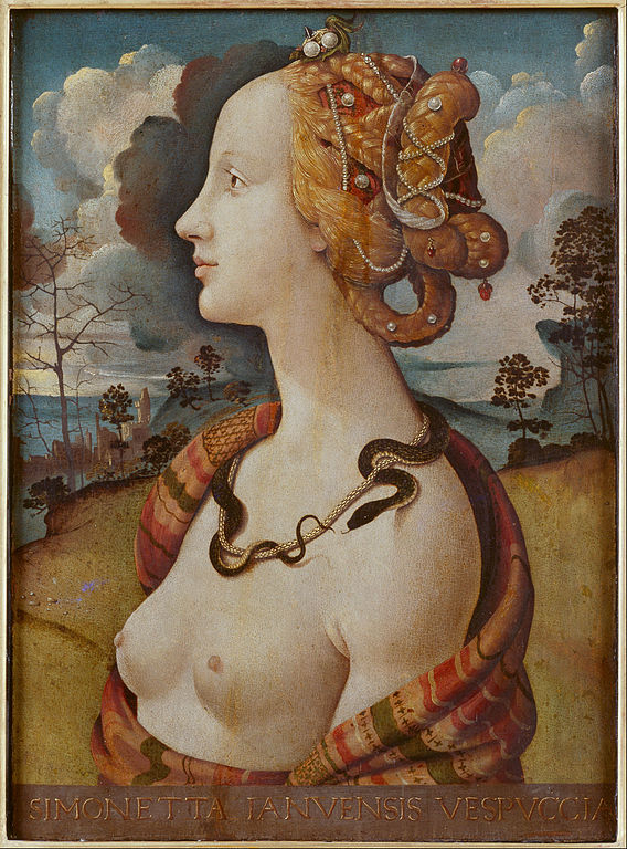 Portrait of Simonetta Vespucci as Cleopatra. Piero di Cosimo, c. 1480 - 1490