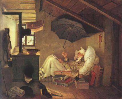Carl Spityweg, 'Der arme Poet', 1839.