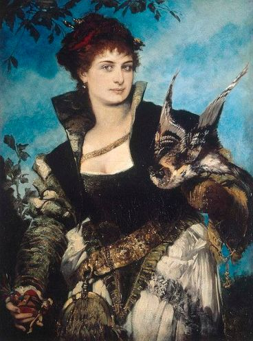 Hans Makart, 'The Falconer', 1880.