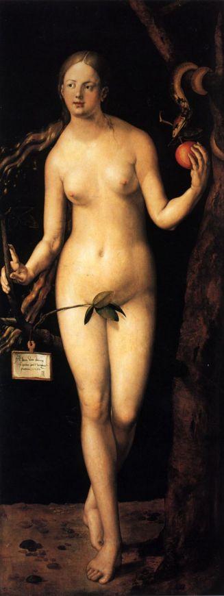 Albrecht Durer. Adam and Eve [detail}. 1507.