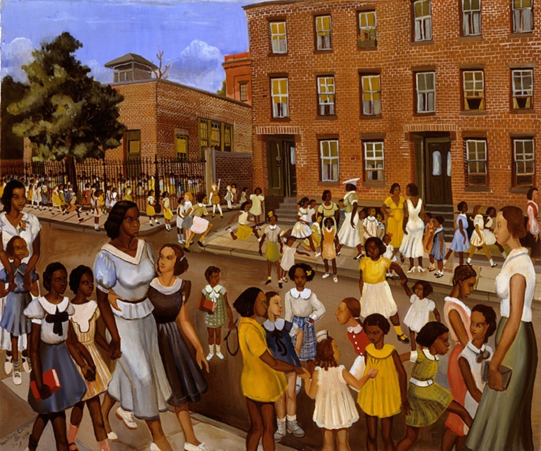 "Allan Rohan Crite. ""School's Out"". 1936"