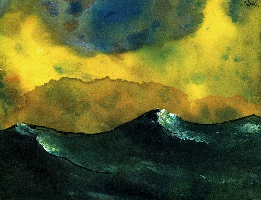 Emil Nolde. 'Green Sea'.
