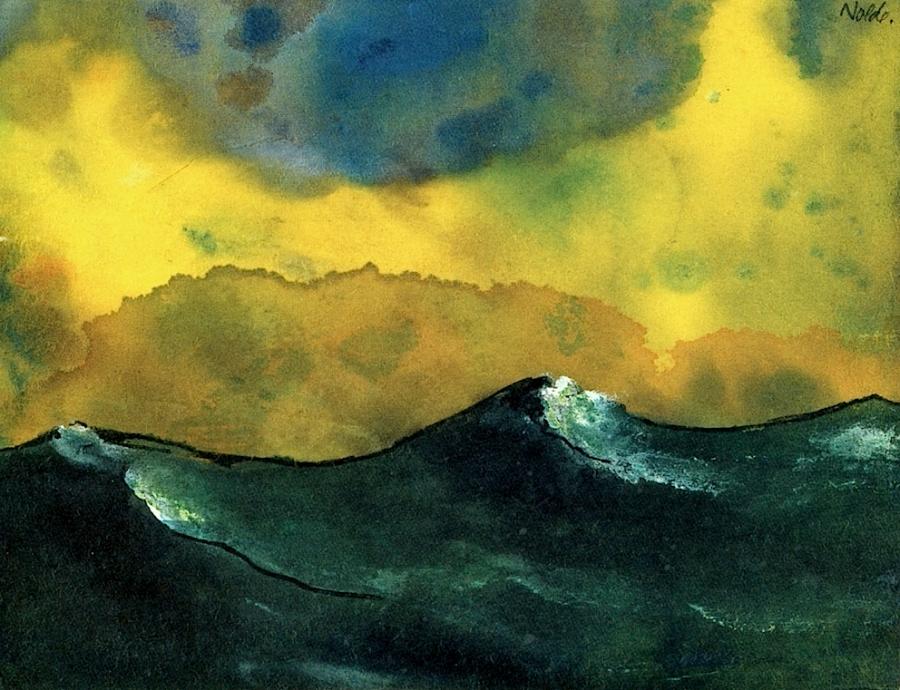 Emil Nolde. 'Green Sea'.