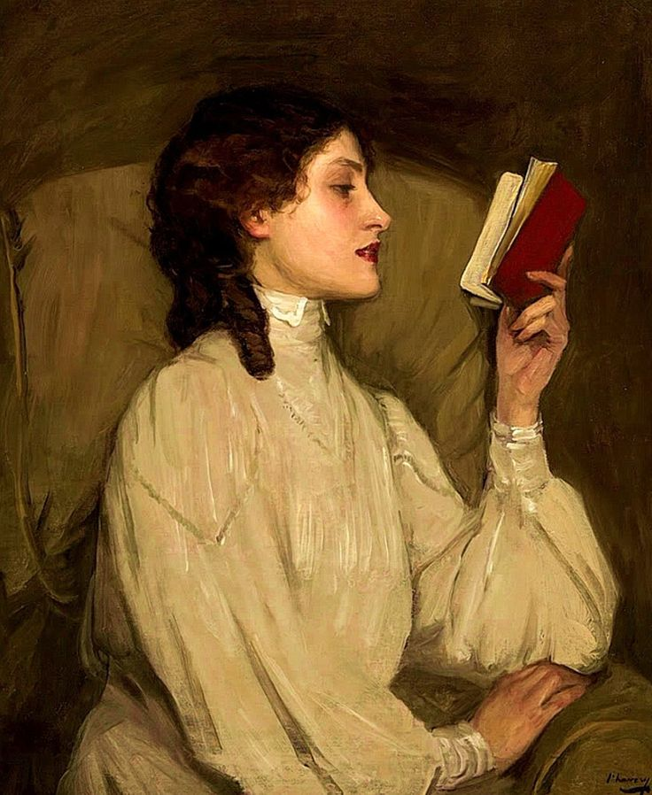 "Sir John Lavery, ""Miss Auras, The Red Book"""