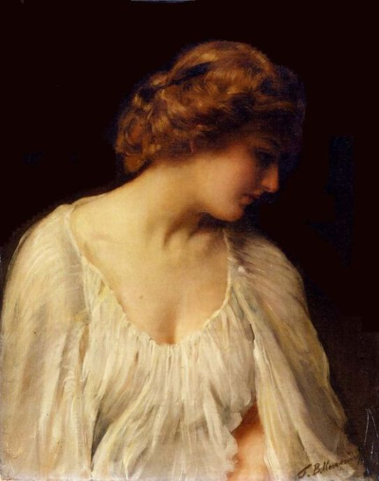 "Thomas Benjamin Kennington. ""Contemplation"", c. 1900."