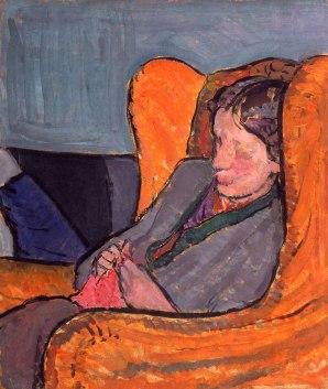 Virgina Woolf, by Vanessa Bell. 1912.