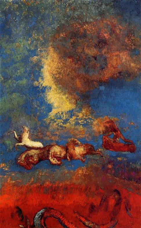 Odilon Redon. Apollo's Chariot, c. 1906