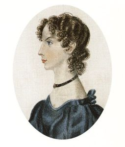 Anne Brontë, by Charlotte Brontë, 1834
