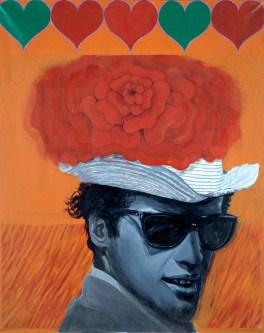 """Pauline Boty. """"Love to Jean Paul Belmondo"""""""