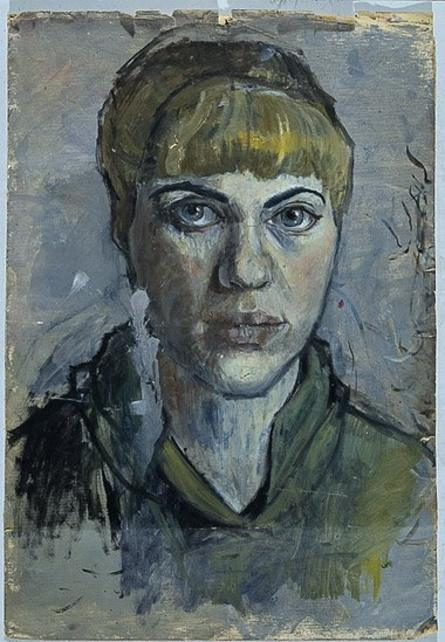 "Pauline Boty, ""Self-Portrait"", 1955"