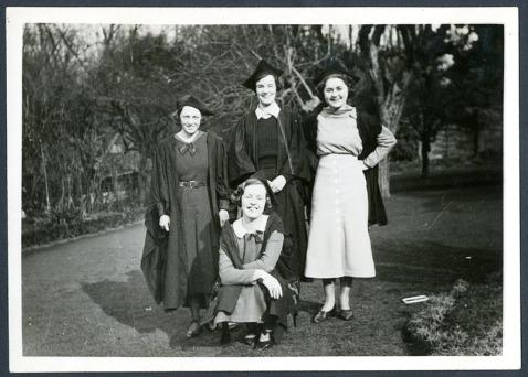 Pym and three fellow undergraduates